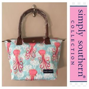 Simply Southern Jellyfish Dance Tote NWT